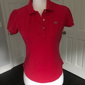 Lacoste Woman's Polo Shirt Size 40